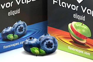 Flavor Vapes 3D packaging