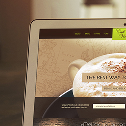 Cafe Vienna webdesign